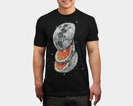печать на черной футболке А3