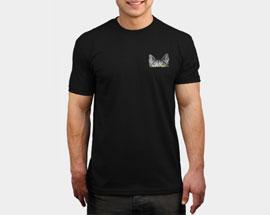 печать на черной футболке А5