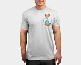 печать на белой футболке А5